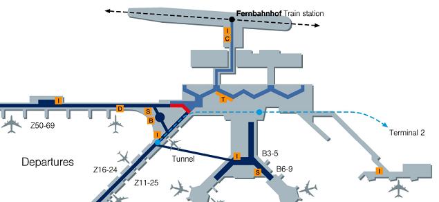 luchthaven frankfurt vertrek terminal